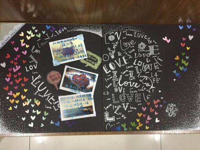 25款优秀黑卡相册制作素材 diy相册黑卡手绘图素材